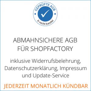 AGB für Shopfactory inklusive Update-Service