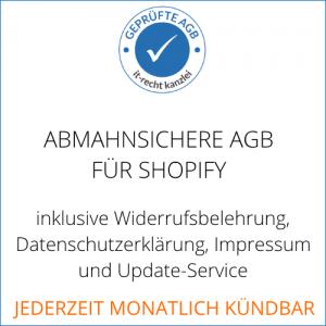 AGB und Widerrufsbelehrung für Shopify
